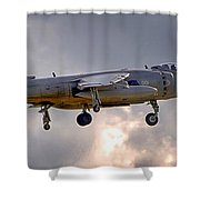 Royal Navy Sea Harrier Shower Curtain
