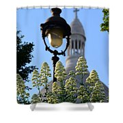 Sacre Coeur  Shower Curtain by Riad Belhimer