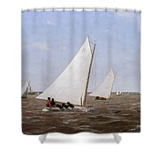 Sailboats Racing On The Delaware Shower Curtain