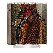 Saint Catherine Of Alexandria Shower Curtain