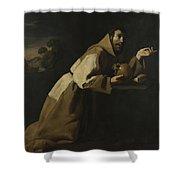 Saint Francis In Meditation Shower Curtain