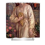 Salutation Of Beatrice Shower Curtain