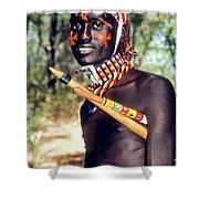 Samburu Warrior Shower Curtain