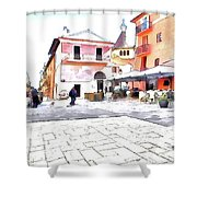 San Felice Circeo Square Shower Curtain