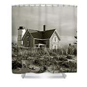 Sandy Neck Lighthouse Shower Curtain