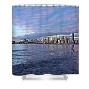 Seattle Skyline Cityscape Shower Curtain