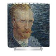 Self-portrait Paris July   August 1887 Vincent Van Gogh 1853  1890 Shower Curtain