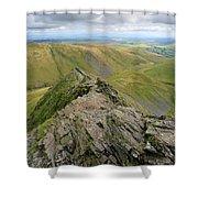 Sharpe Edge On Blencathra Fell, Lake District National Park Shower Curtain