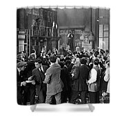 Silent Film Still: Crowds Shower Curtain