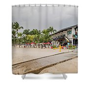 Siloso Beach Shower Curtain