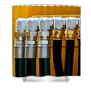 3 Silver 3 Gold Shower Curtain