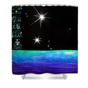 3 Sisters - 3 Stars Dancing At Night Shower Curtain