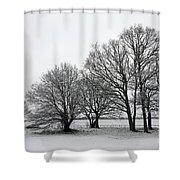 Snow On Epsom Downs Surrey Uk Shower Curtain
