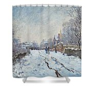 Snow Scene At Argenteuil Shower Curtain