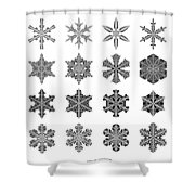 Snowflake Simulation Shower Curtain