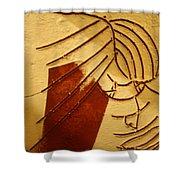 Solemn - Tile Shower Curtain