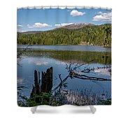 South Skookum Lake Shower Curtain
