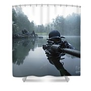 Special Operations Forces Combat Diver Shower Curtain