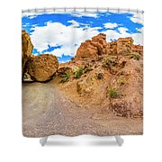Spherical Panorama From A Canyon Charyn Shower Curtain