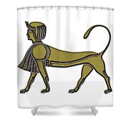 Sphinx - Mythical Creature Of Ancient Egypt Shower Curtain