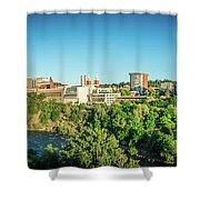 Spokane Washington City Skyline And Streets Shower Curtain