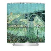 Spring Night Harlem River Shower Curtain