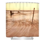 S.s Dicky Shipwreck Shower Curtain
