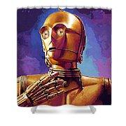 Star Wars Episode 2 Art Shower Curtain