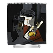 Still Life With Newspaper  Shower Curtain