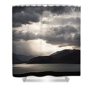 Storm On Karakul Lake Shower Curtain by Konstantin Dikovsky