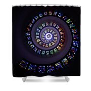 Spiral Stained Glass Shower Curtain