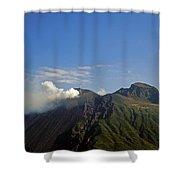 Stromboli Volcano On The Island Of Stromboli Shower Curtain