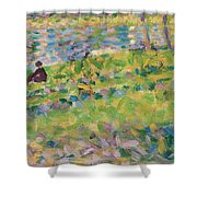 Study For Sunday Afternoon On The Island Of La Grande Jatte Shower Curtain