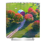 Sunset Hill Farms Indiana  Shower Curtain