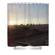 Sunset Horses Shower Curtain