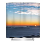 Sunset Over The La Silla Observatory Shower Curtain