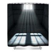 Sunshine Shining In Prison Cell Window Shower Curtain
