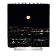 Super Moon In Las Vegas Shower Curtain