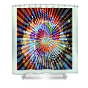 Supernova Of Love Shower Curtain