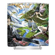 Sword Art Online Shower Curtain