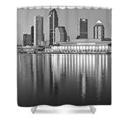 Tampa Bay Black And White Shower Curtain