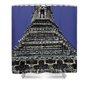 Temple Detail In Bangkok Thialand Shower Curtain