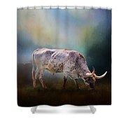 Texas Longhorn Steer Shower Curtain