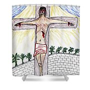 Thank  God  For  Good  Friday Shower Curtain