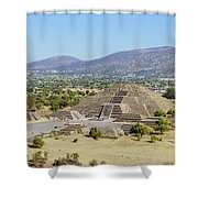 The Famous Pyramid Of The Moon Shower Curtain
