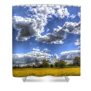 The Farm In Summer Shower Curtain