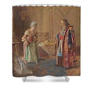 The First Curtsey Shower Curtain