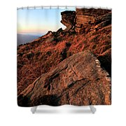 The Gritstone Rock Formations On Stanage Edge Shower Curtain