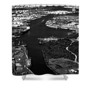 The Houston Ship Channel Shower Curtain