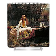 The Lady Of Shalott Shower Curtain